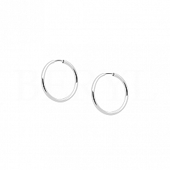 Kolczyki kółeczka srebrne 12 mm