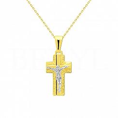 Zawieszka Złoto Krzyż
