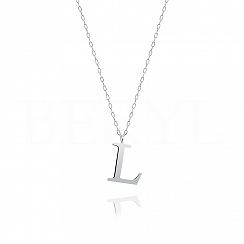 Naszyjnik z literką L srebrny 2 cm