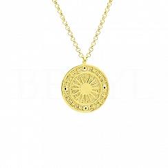 Naszyjnik słońce srebrny pozłacany talizman