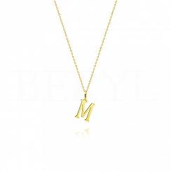 Złoty naszyjnik z literką M