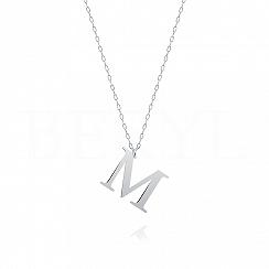 Naszyjnik z literką M srebrny 2 cm