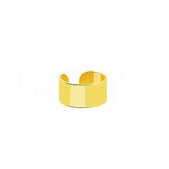 Kolczyk Nausznica Nakładka Srebro 925 Pozłacana 24 karatowym złotem