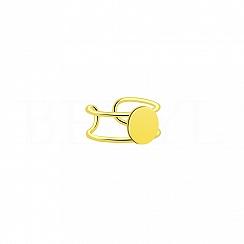 Kolczyk Nausznica Mała Kółko Srebro 925 Pozłacana 24 karatowym złotem