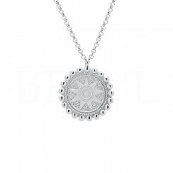 Naszyjnik słońce srebrny talizman