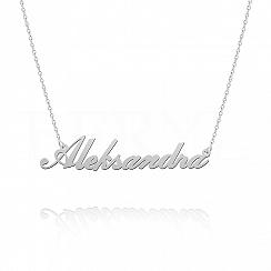 Naszyjnik z imieniem ALEKSANDRA srebrny