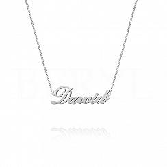 Naszyjnik z imieniem DAWID srebrny
