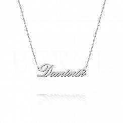 Naszyjnik z imieniem DOMINIK srebrny