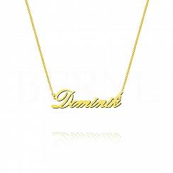Naszyjnik z imieniem DOMINIK srebrny pozłacany