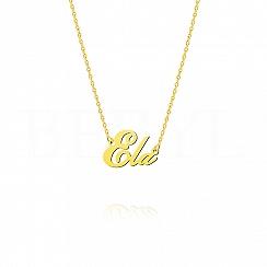 Naszyjnik z imieniem ELA srebrny pozłacany
