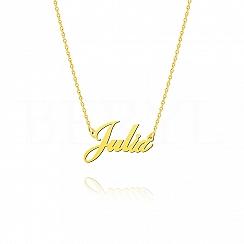 Naszyjnik z imieniem JULIA srebrny pozłacany