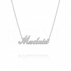Naszyjnik z imieniem MADZIA srebrny