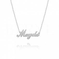 Naszyjnik z imieniem MAGDA srebrny