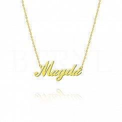 Naszyjnik z imieniem MAGDA srebrny pozłacany