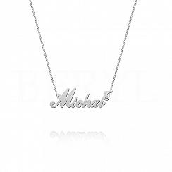 Naszyjnik z imieniem MICHAŁ srebrny