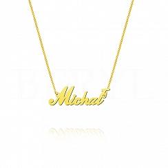 Naszyjnik z imieniem MICHAŁ srebrny pozłacany