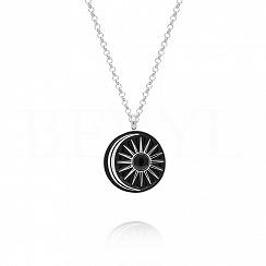 Naszyjnik srebrny ze słońcem i księżycem