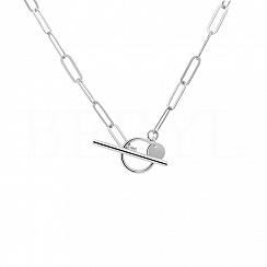 Naszyjnik łańcuch srebrny z zapięciem toggle