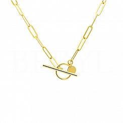 Naszyjnik łańcuch srebrny pozłacany z zapięciem toggle