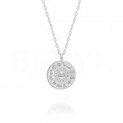 Znak zodiaku bliźnięta naszyjnik srebrny