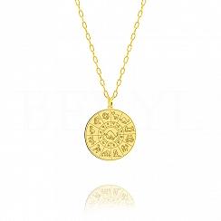 Znak zodiaku byk naszyjnik srebrny pozłacany