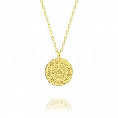Znak zodiaku waga naszyjnik srebrny pozłacany