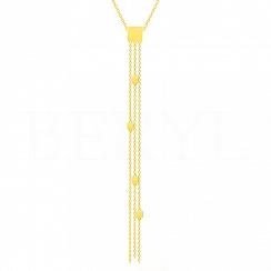 Naszyjnik krawatka srebrna pozłacana długa