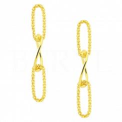 Kolczyki łańcuszki srebrne pozłacane długie wiszące