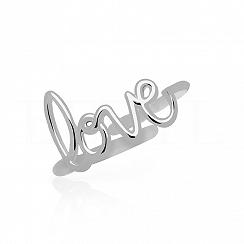 Pierścionek LOVE srebrny