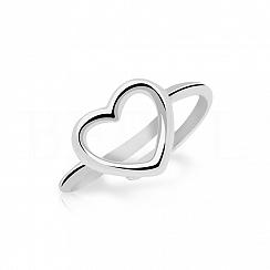 Pierścionek serduszko srebrny