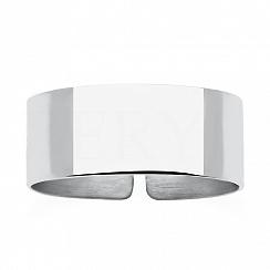 Pierścionek srebrny regulowany obrączka