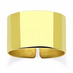 Pierścionek regulowany srebrny pozłacany szeroka obrączka