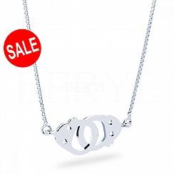 Naszyjnik srebrny z kajdankami