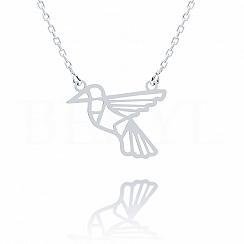 Naszyjnik celebrytka srebrna koliber origami