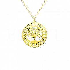 Naszyjnik Amulet Duże Drzewo życia Srebro 925 Pozłacane 24 karatowym złotem