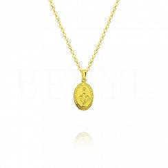 Zawieszka Medalik srebrny pozłacany Cudowny Medalik