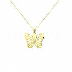 Zawieszka Złoto Motyl