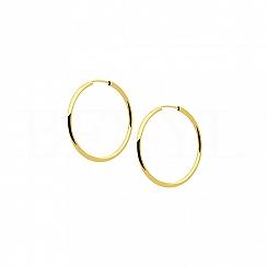 Kolczyki złote koła 30 mm