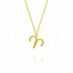 Naszyjnik znak zodiaku baran srebrny pozłacany