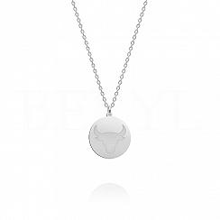 Naszyjnik znak zodiaku byk srebrny dwustronny