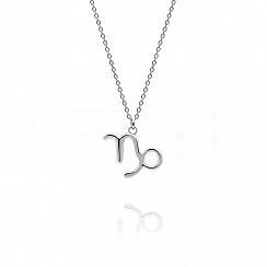 Naszyjnik znak zodiaku koziorożec srebrny