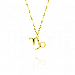 Naszyjnik znak zodiaku koziorożec srebrny pozłacany