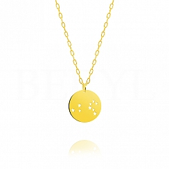 Znak zodiaku lew gwiazdozbiór naszyjnik srebrny pozłacany