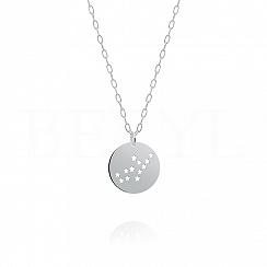 Znak zodiaku panna gwiazdozbiór naszyjnik srebrny