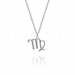 Naszyjnik znak zodiaku panna srebrny
