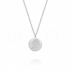 Naszyjnik znak zodiaku panna srebrny dwustronny