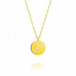 Znak zodiaku panna gwiazdozbiór naszyjnik srebrny pozłacany