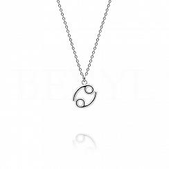 Naszyjnik znak zodiaku rak srebrny