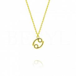 Naszyjnik znak zodiaku rak srebrny pozłacany