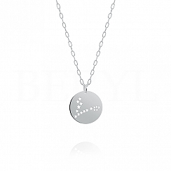 Znak zodiaku ryby gwiazdozbiór naszyjnik srebrny